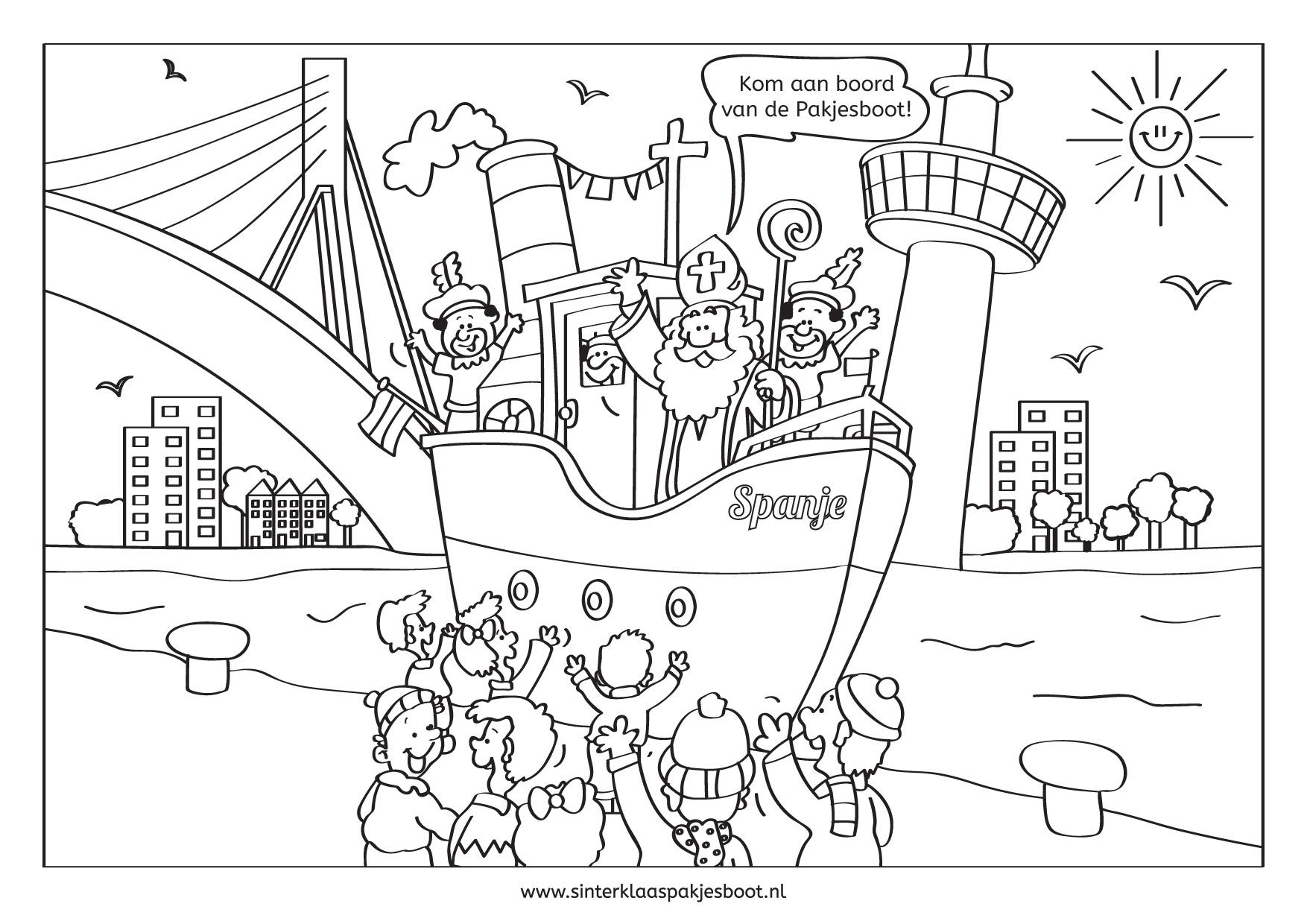 Het Beste Van Kleurplaat Sint En Piet Boot